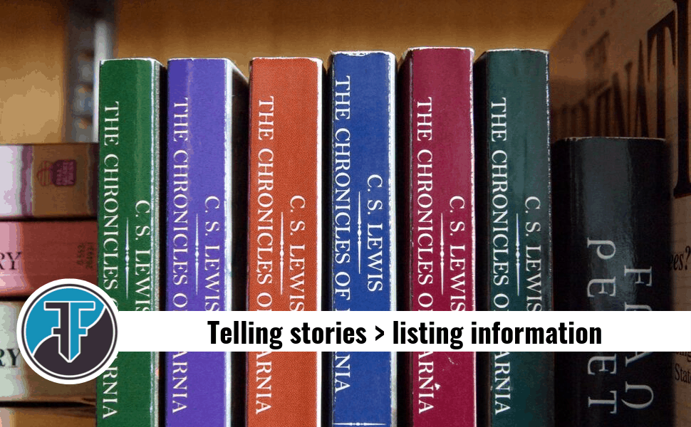 How to make website content more effective by telling stories